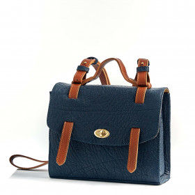 Le Candide - Light Navy Blue - Cuir Bubble