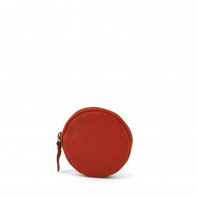 Le Discret (M) - Terracotta / Gold - Cuir Bubble