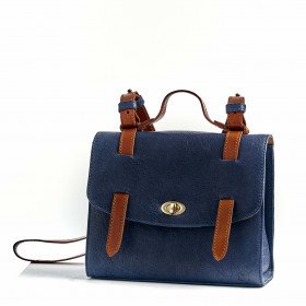 Le Candide - Navy - Cuir Bubble