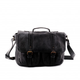 Le Boston (M) - Black - Cuir Wash