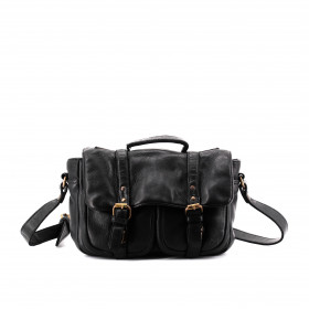 Le Boston (S) - Black - Cuir Wash