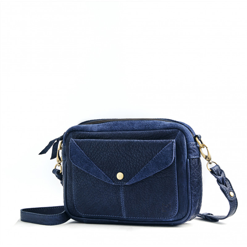 Le Citadin - Navy - Cuir Bubble
